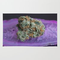 medical Area & Throw Rugs featuring Jenny's Kush Medical Weed by BudProducts.us