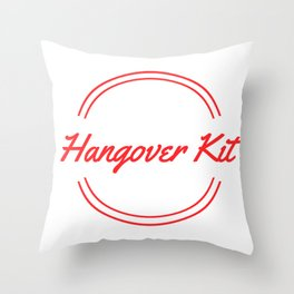 Hangover Kit Throw Pillow