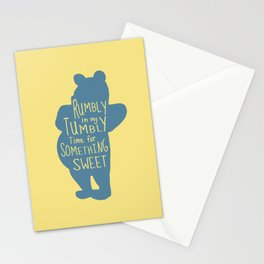 Rumbly in my Tumbly Time for Something Sweet - Pooh inspired Print Stationery Cards