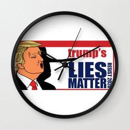 trump's Lies Matter Wall Clock