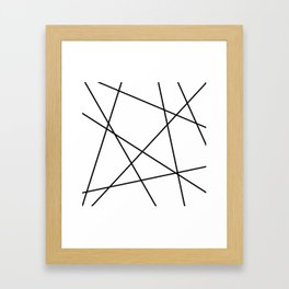 Lines in Chaos II - White Framed Art Print