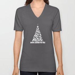 Drums Around The Christmas Tree Unisex V-Neck
