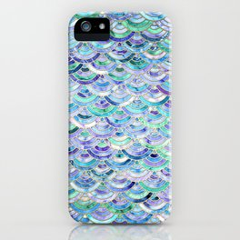 Marble Mosaic in Sapphire and Emerald iPhone Case