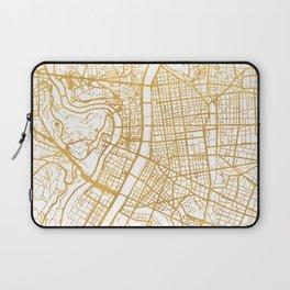 LYON FRANCE CITY STREET MAP ART Laptop Sleeve