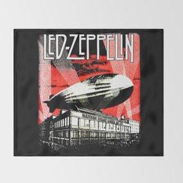 Red Zeppelin Throw Blanket
