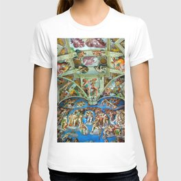 Spectacular Sistine Chapel Frescoes, Rome, Italy color photograph / photography / photographs T-shirt