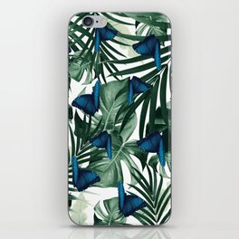 Tropical Butterfly Jungle Leaves Pattern #1 #tropical #decor #art #society6 iPhone Skin