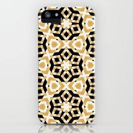Gold Foil Art Deco Star Pattern iPhone Case