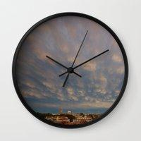 skyline Wall Clocks featuring Skyline by Danto