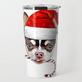 Christmas Chihuahua dog Travel Mug