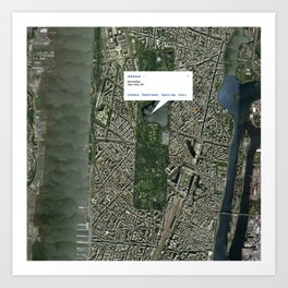What if Manhattan Was Designed Like Paris? Art Print