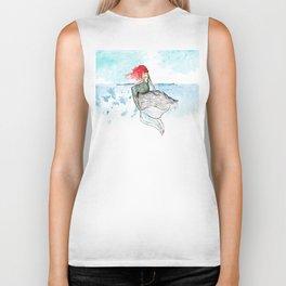 Mermaid - watercolor version Biker Tank