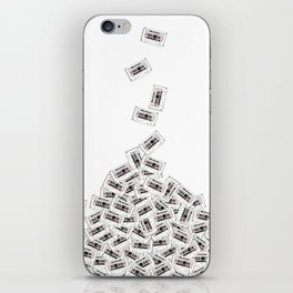 A pile of mixtapes iPhone Skin