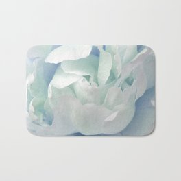 Peony in Blue White Bath Mat