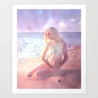 daenerys Art Prints featuring Contemplate by SuzanneCarter