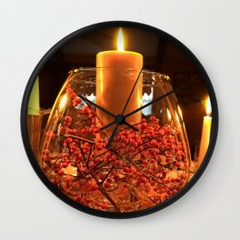 Glass Bowl Candle Decor Wall Clock