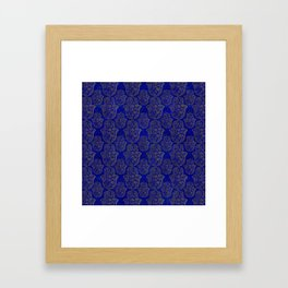 Hamsa Hand pattern - gold on lapis lazuli Framed Art Print