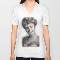 laura palmer V-neck T-shirts featuring TWIN PEAKS - LAURA PALMER by William Wong