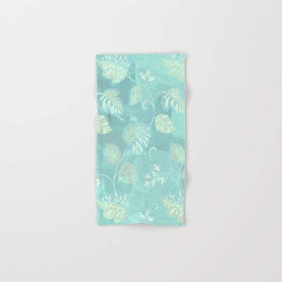 soft foliage in blue Hand & Bath Towel