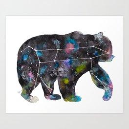 Ursa Watercolor Constellation Painting Art Print