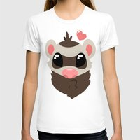 ferret T-shirts featuring Sable Ferret by TheFerrets
