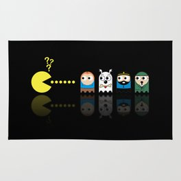Pacman with Tintin Ghosts Rug