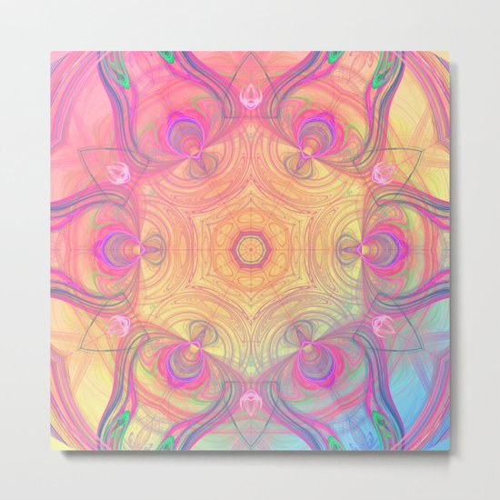 Psychedelic Kaleidoscope Metal Print