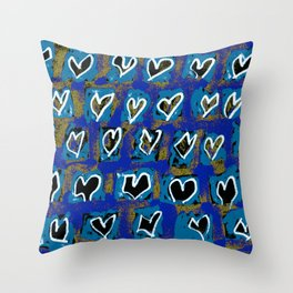 Flying Hearts ~ Pure Love Throw Pillow