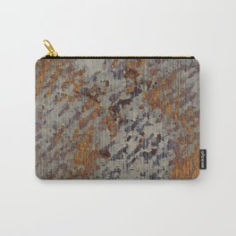 Graphic Grunge Orange and Grey Plaster Abstract Carry-All Pouch