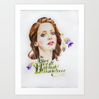 ultraviolence Art Prints featuring Ultraviolence by eleidiel