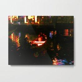 Wedding Boat in Hoi An Metal Print
