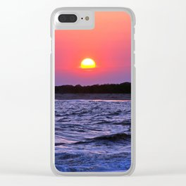 Colorful Cape May Sunet Clear iPhone Case