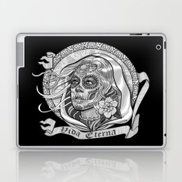 Black and White Catrina (Day of the Dead) Laptop & iPad Skin