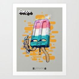 POPSQUIDICLE & CAMO-LEON Art Print
