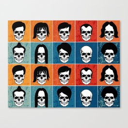Hairstyles for Skulls Canvas Print