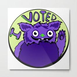 Monster Voter Metal Print