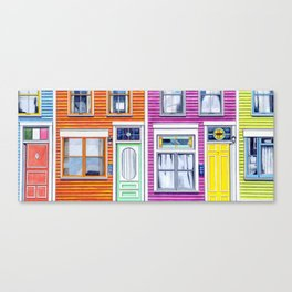 Jelly Bean Row, 2016 Canvas Print