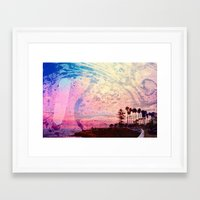 west coast Framed Art Prints featuring West Coast by marcus baker