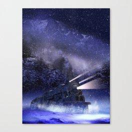 Snowy Night Train Canvas Print