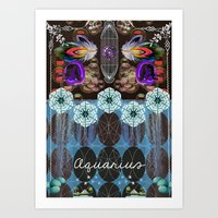 aquarius Art Prints featuring Aquarius by The New Old World