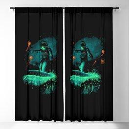 Space surfer art Blackout Curtain