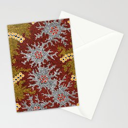 Authentic Aboriginal Art - Bushland Dreaming Stationery Cards