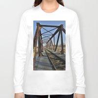bridge Long Sleeve T-shirts featuring Bridge by Falko Follert Art-FF77