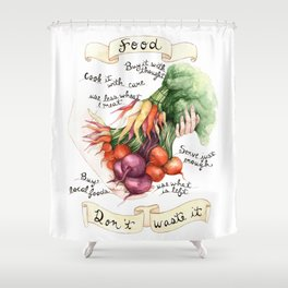Food Poster Shower Curtain