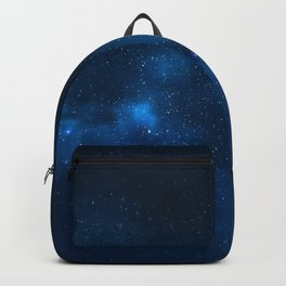 Fascinating view of the blue cosmic sky Backpack