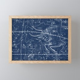 Taurus sky star map Framed Mini Art Print