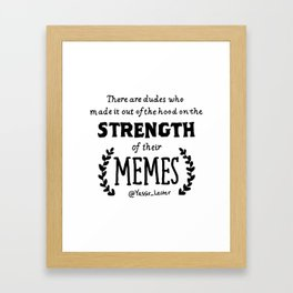 Memes Framed Art Print