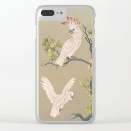 Moluccan Cockatoos Clear iPhone Case