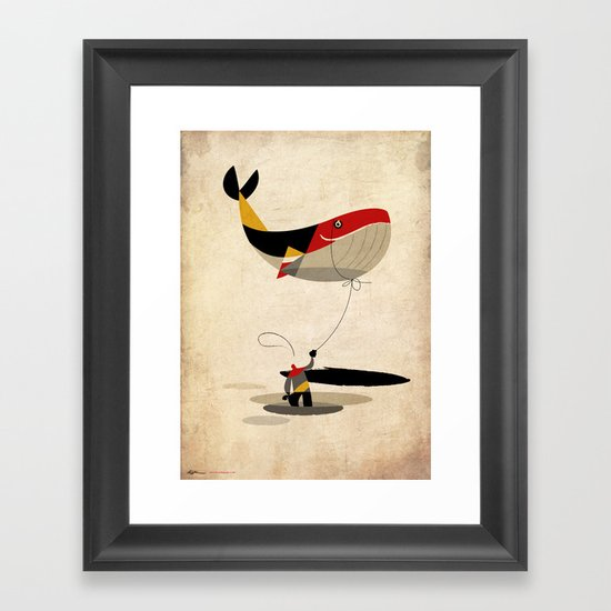 thoughts on a leash Framed Art Print