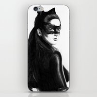 catwoman iPhone & iPod Skins featuring Catwoman by Gabriel Fox